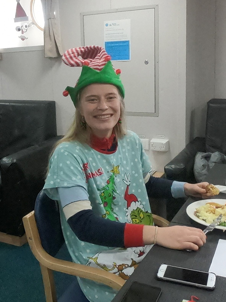 Elf Annabelle's Christmas dinner. 📷 Lisa Woodward